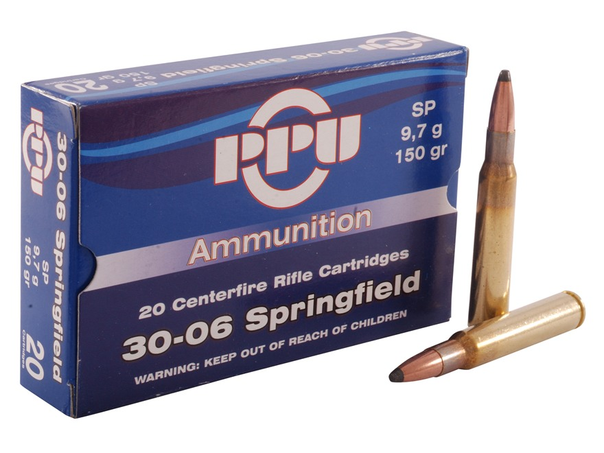 Prvi Partizan Ammunition 30-06 Springfield 150 Grain Soft Point Box of 20