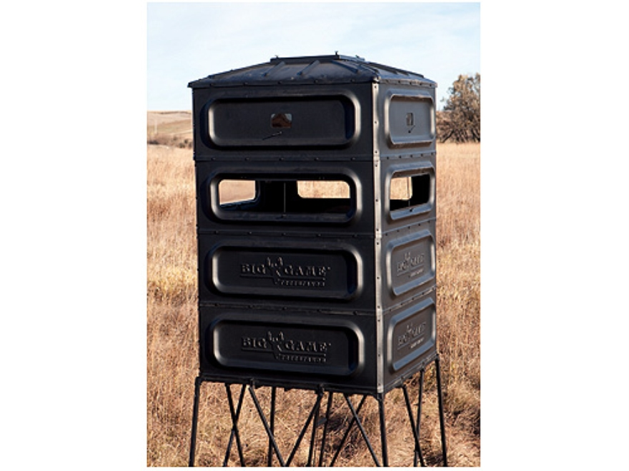 Big Game The Refuge Box Blind Polymer Black