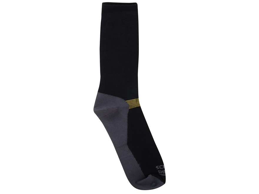 Scent Blocker Men's Lightweight Socks Synthetic Blend Black 1 Pair