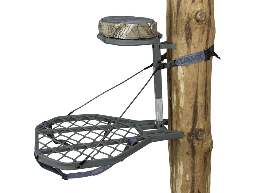 Hawk Helium Hang On Treestand Aluminum Gray
