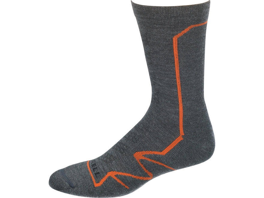 Merrell Men's Capra Polar Lightweight Hiking Crew Socks Merino Wool/Synthetic 1 Pair
