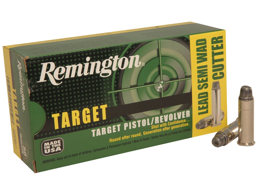 Remington Target Ammunition 357 Magnum 158 Grain Lead Semi-Wadcutter Box of 50