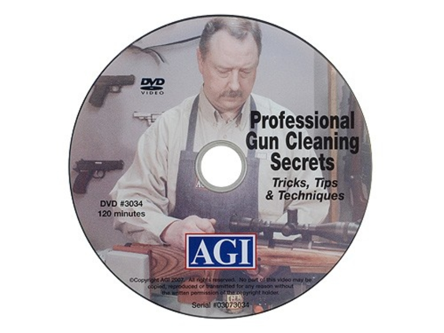 "American Gunsmithing Institute (AGI) Video ""Professional Gun Cleaning Secrets"" DVD"