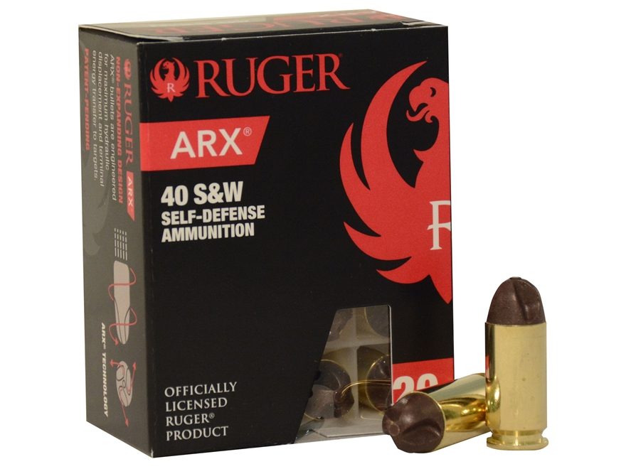 Ruger Self Defense Ammunition 40 S&W 97 Grain Frangible PolyCase ARX Lead-Free
