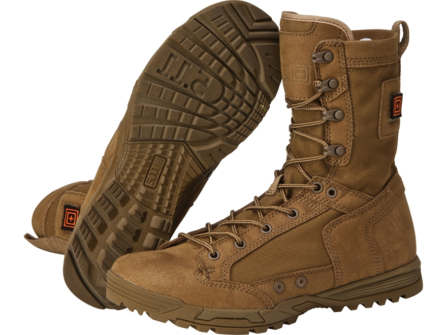 "5.11 Skyweight RapidDry 8"" Tactical Boots Leather and Nylon Dark Coyote Men's"