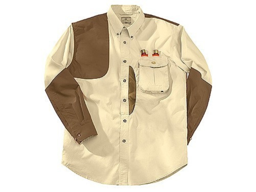 Beretta Men's Front Loading Shooting Shirt Long Sleeve Cotton and Cordura Tan and Blaze...