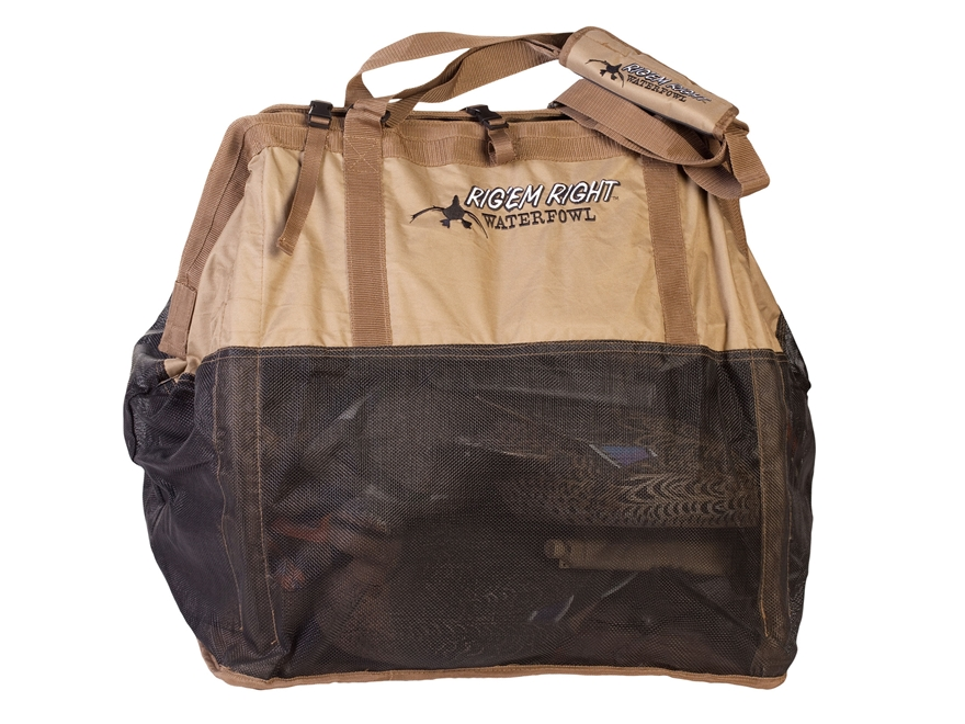 Rig'Em Right Gunslinger 24 Floater Duck Decoy Bag Tan and Black