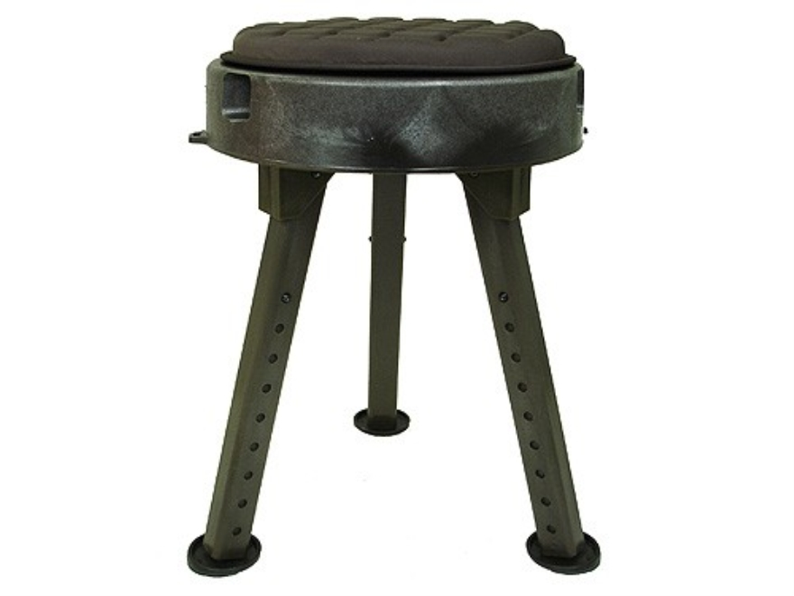 Quake Bull Seat All-Terrain Hunting Blind Stool/Chair Polymer Green