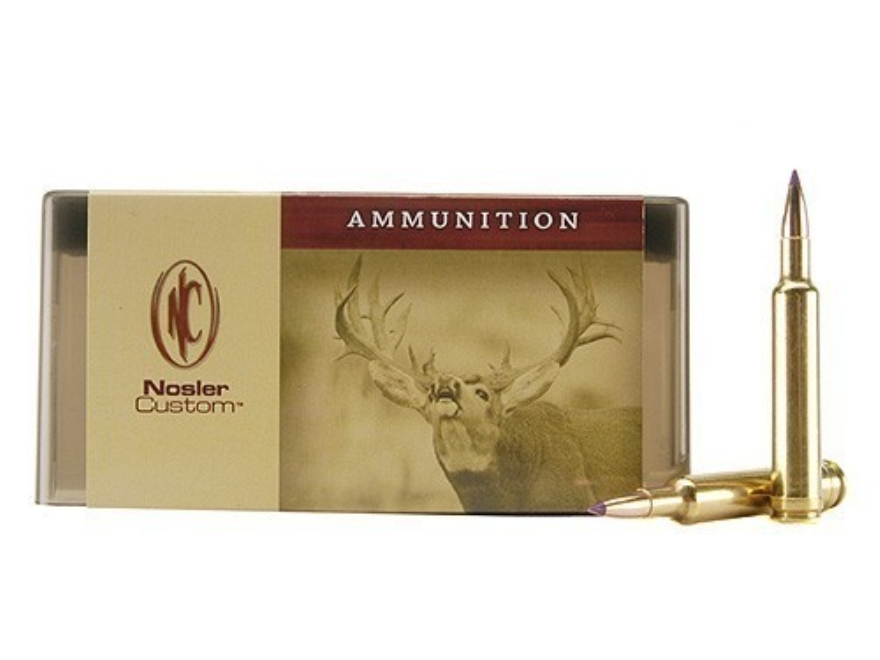 Nosler Custom Ammunition 300 Remington Short Action Ultra Magnum 150 Grain Ballistic Ti...