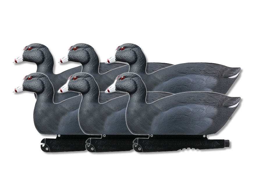 GHG Over-Size Coots Duck Decoy Pack of 6