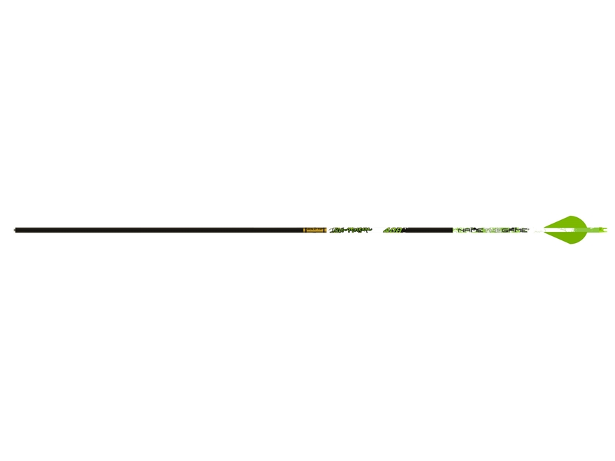 "Gold Tip Name The Game Hunter 300 Carbon Arrow 2"" Vanes Black Pack of 6"