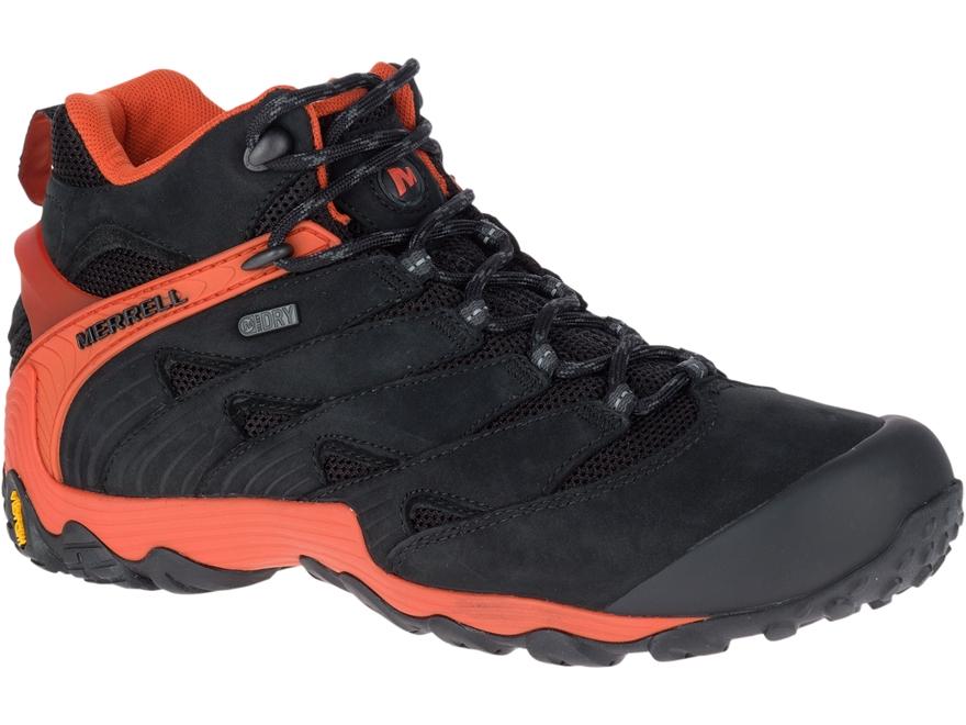 "Merrell Chameleon 7 Mid 5"" Waterproof Hiking Boots Leather/Nylon"