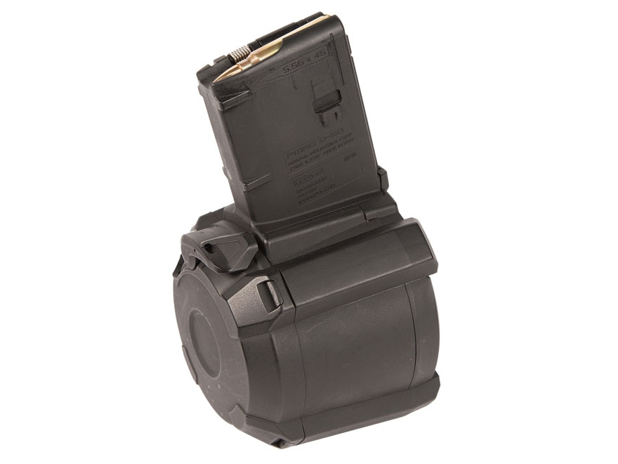 Magpul PMAG D-60 Drum Magazine AR-15 223 Remington 60-Round Polymer Black