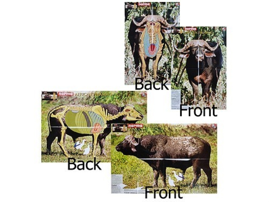 "Safari Press Perfect Shot Target Buffalo  24"" x 36"" Package of 5"
