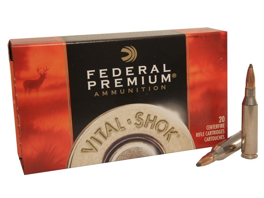 Federal Premium Vital-Shok Ammunition 6mm Remington 100 Grain Nosler Partition Box of 20