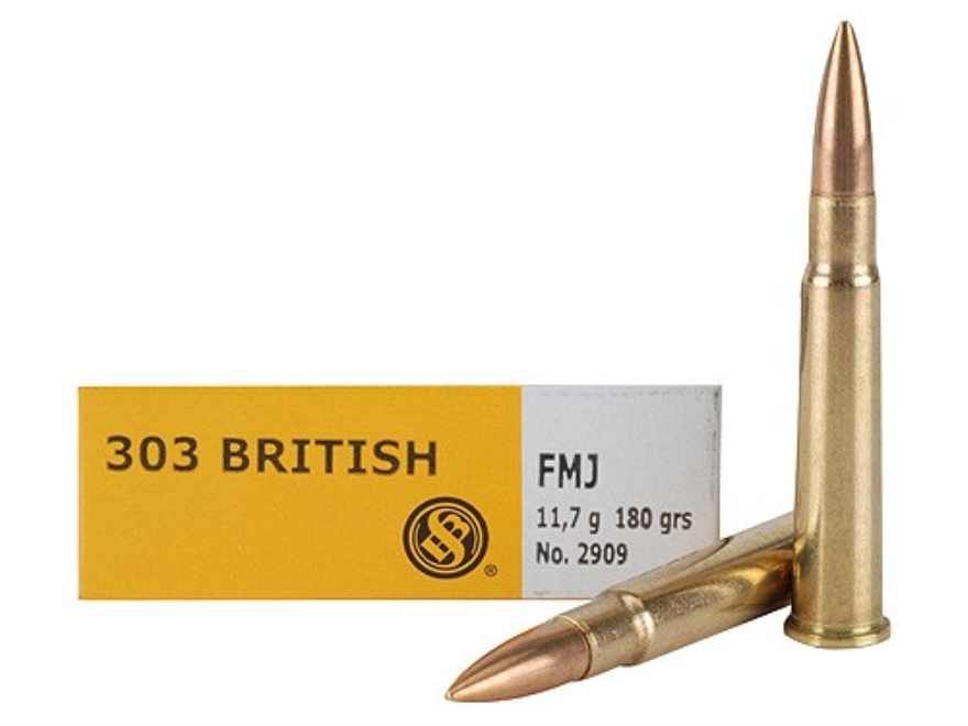 Sellier & Bellot Ammunition 303 British 180 Grain Full Metal Jacket Box of 20