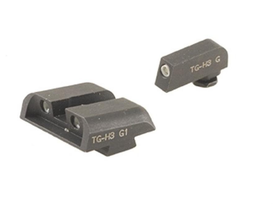 TRUGLO Brite-Site Tritium Sight Set Glock 17, 17L, 19, 22, 23, 24, 26, 27, 33, 34, 35, ...