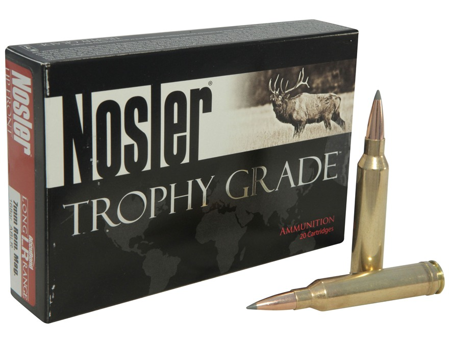 Nosler Trophy Grade Ammunition 7mm Remington Magnum 168 Grain AccuBond Long Range Box o...
