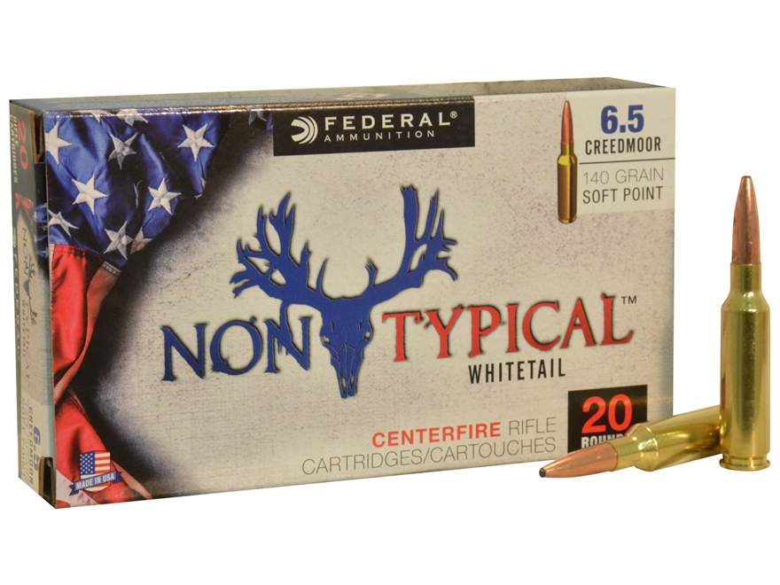 Federal Non-Typical Ammunition 6.5 Creedmoor 140 Grain Soft Point Boat Tail