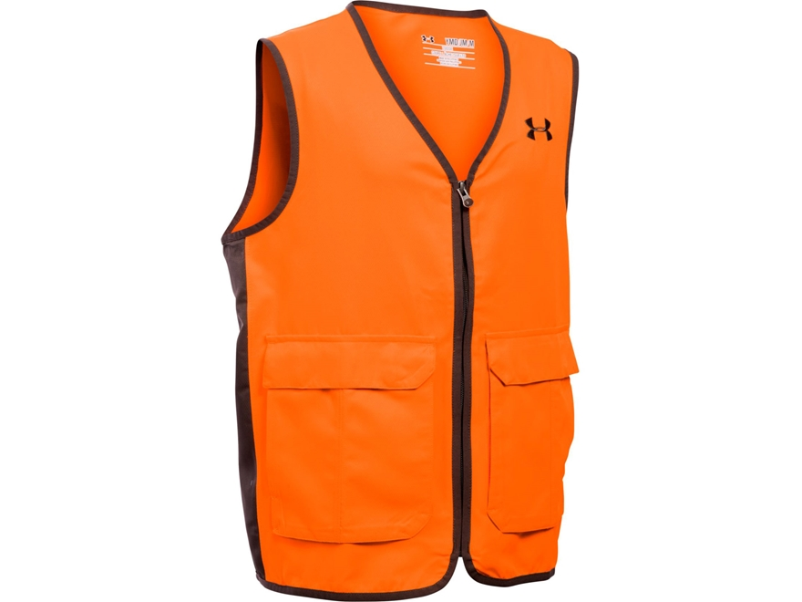 Under Armour Boy's UA Antler Logo Safety Vest Blaze Orange Polyester Blaze Orange