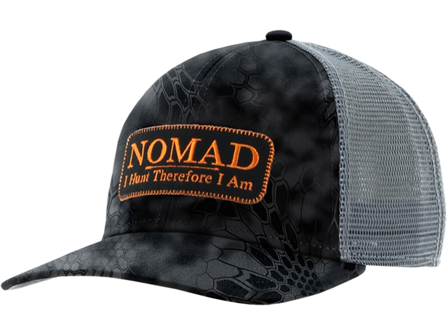NOMAD Camo Trucker Patch Logo Mesh Back Cap Polyester