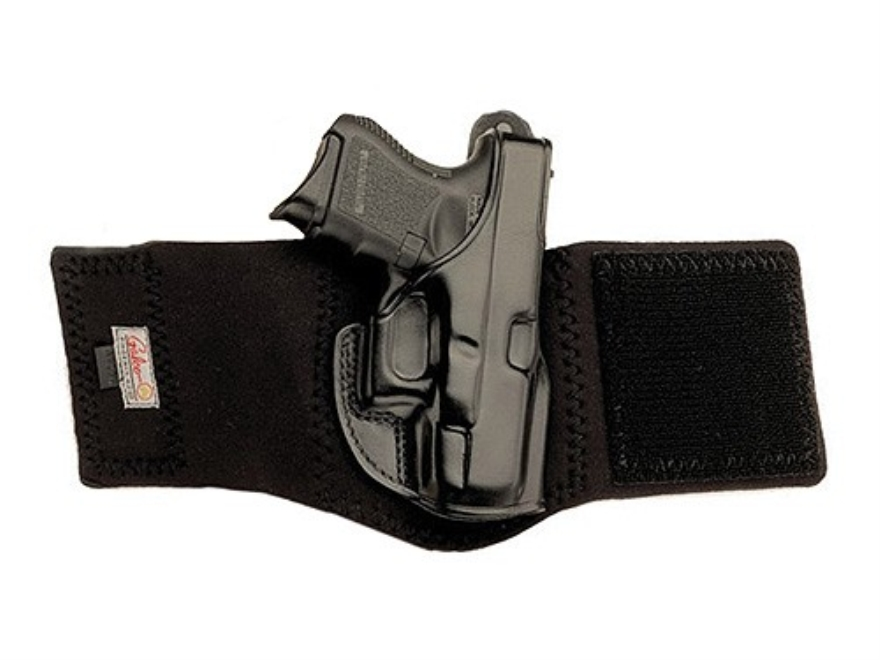 Galco Ankle Glove Holster Right Hand Sig Sauer P230, P232 Leather with Neoprene Leg Ban...