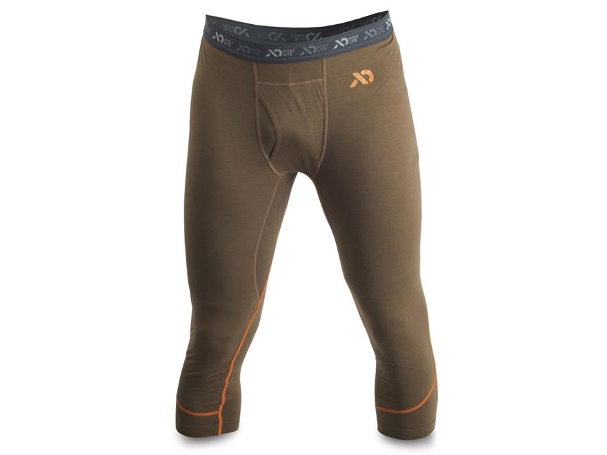 First Lite Men's Glenbrook 3/4 Base Layer Pants Aerowool Blend