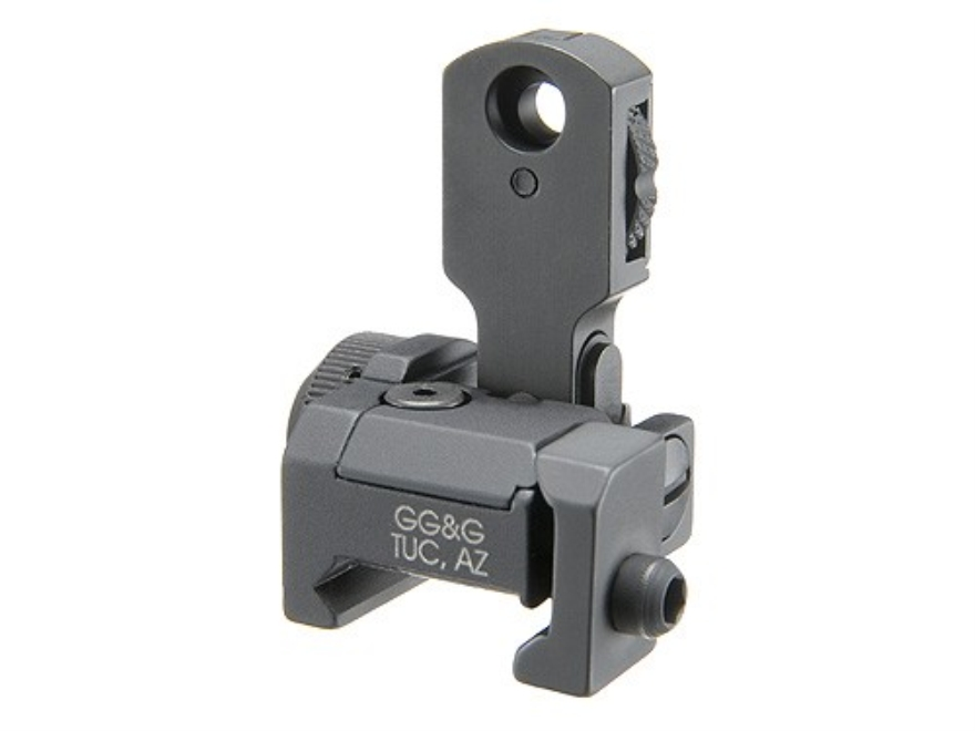 GG&G Multiple Aperture Device (MAD) Flip-Up Rear Sight with Locking Detent AR-15 Flat-T...