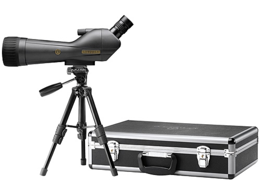 Leupold SX-1 Ventana Spotting Scope 20-60x 80mm Angled Body Armored Black with Tripod, ...