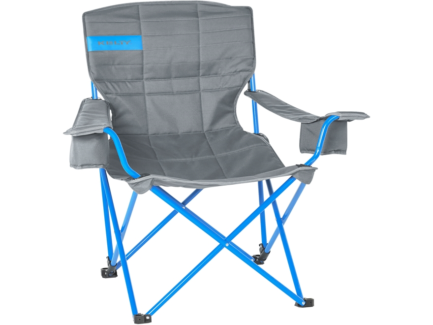 Kelty Deluxe Lounge Camp Chair Polyester and Steel Smoke and Blue