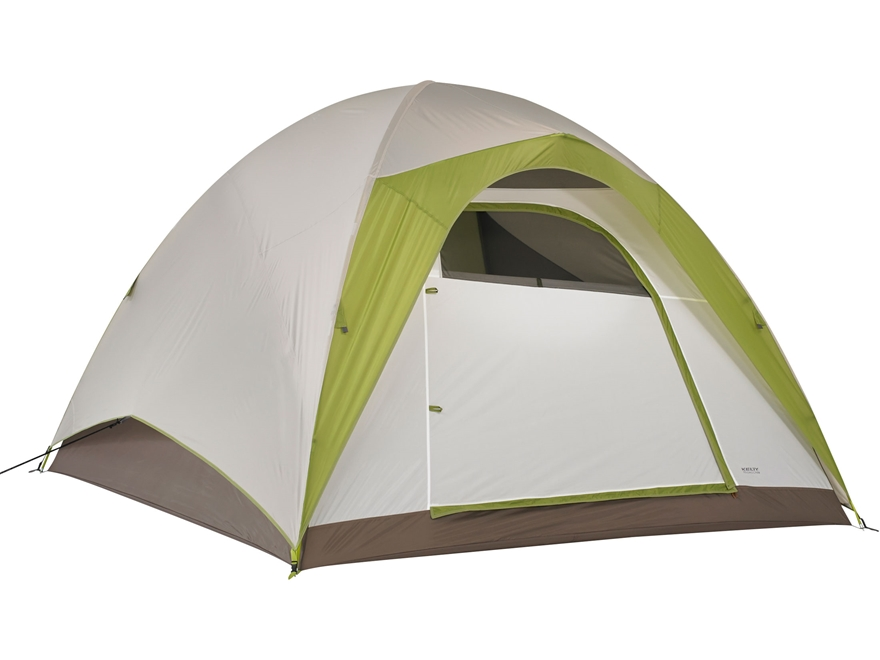 "Kelty Yellowstone 6 6 Person Dome Tent 120"" x 108"" x 77"" Polyester White and Lime Green"