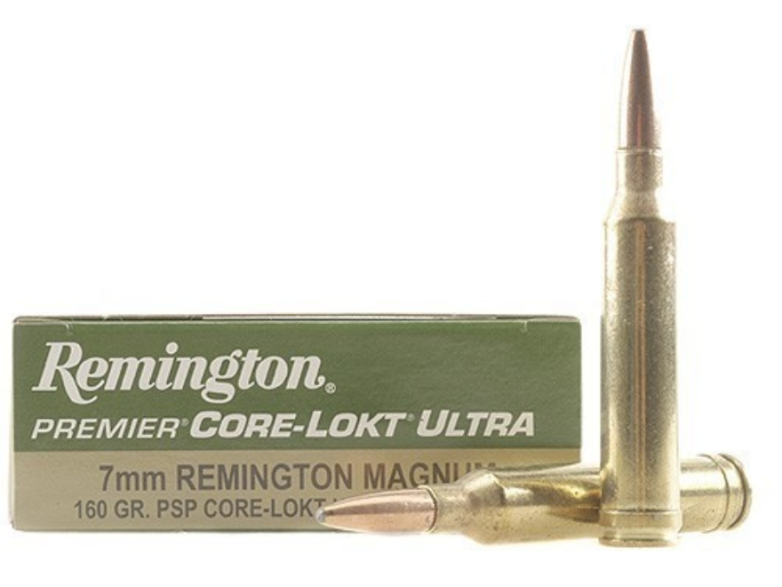 Remington Premier Ammunition 7mm Remington Magnum 160 Grain Core-Lokt Ultra Bonded Poin...