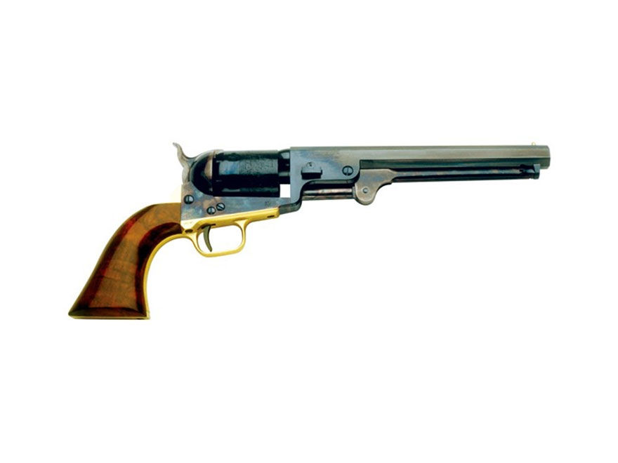 """Pietta 1851 Navy Black Powder Revolver 44 Caliber 7.5"""" Barrel Steel Frame Brass Backstr..."""