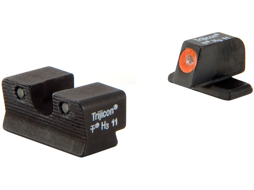Trijicon HD Night Sight Set Springfield XDS Steel Matte 3-Dot Tritium Green with Front ...