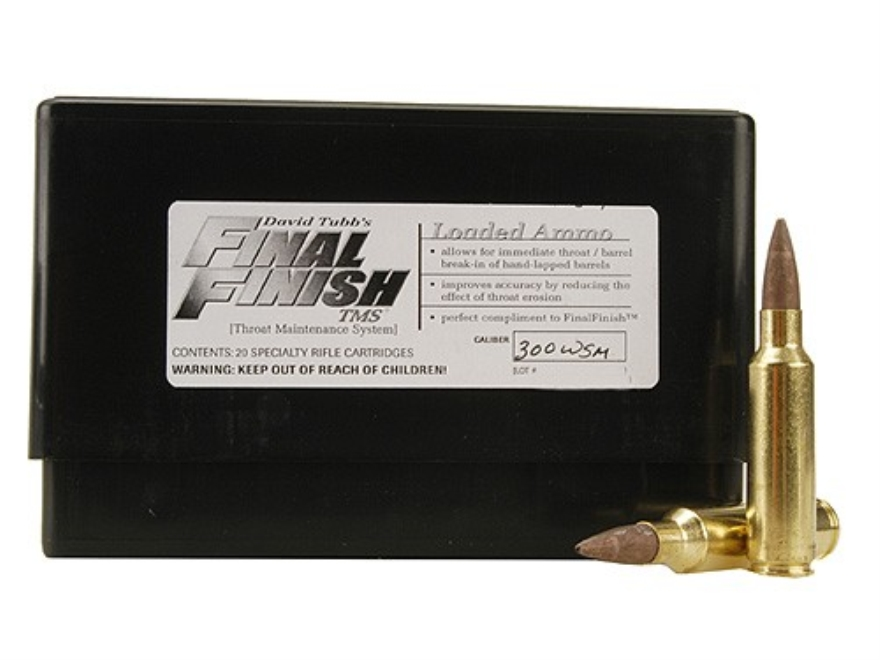 Tubb Final Finish Throat Maintenance System TMS Ammunition 300 Winchester Short Magnum ...