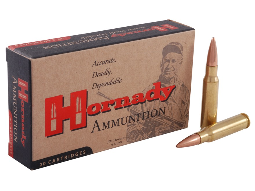Hornady Match Ammunition 308 Winchester 155 Grain Open Tip Match Box of 20