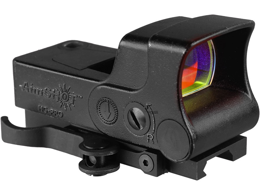 AimShot HG-Pro Reflex Green Dot Sight with Integral Quick Release Weaver-Style Mount Matte