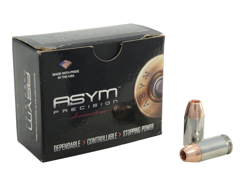 ASYM Precision Solid Defense X Ammunition 45 ACP +P 185 Grain Barnes TAC-XP Hollow Poin...