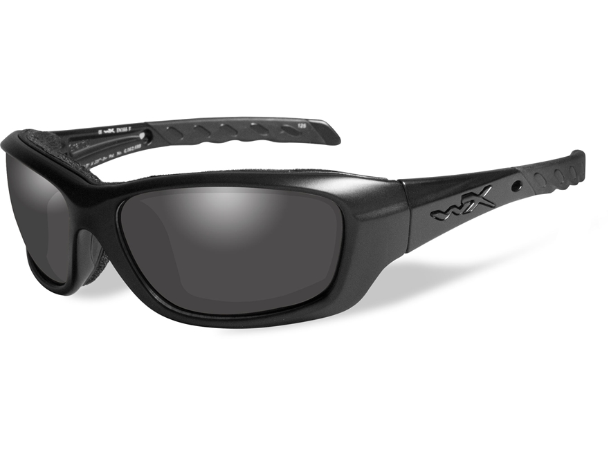 Wiley X Black Ops WX Gravity Sunglasses Matte Black Frame Smoke Grey Lens