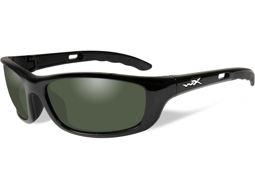 Wiley X P-17 Polarized Sunglasses Smoke Green Lens