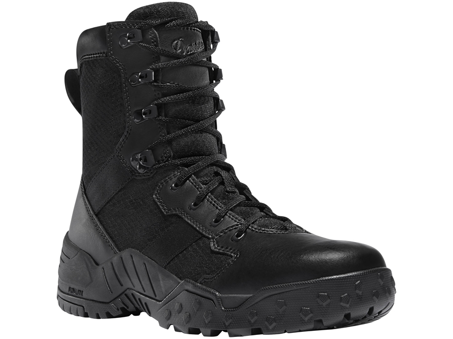"Danner Scorch 8"" Side-Zip Tactical Boots Leather/Nylon Black Men's"