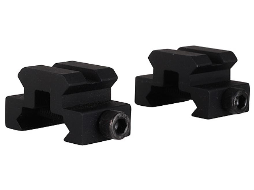"""Remington Picatinny-Style Mini Riser Mount 3/4"""" Long 1/2"""" Tall Aluminum Black Pack of 2"""