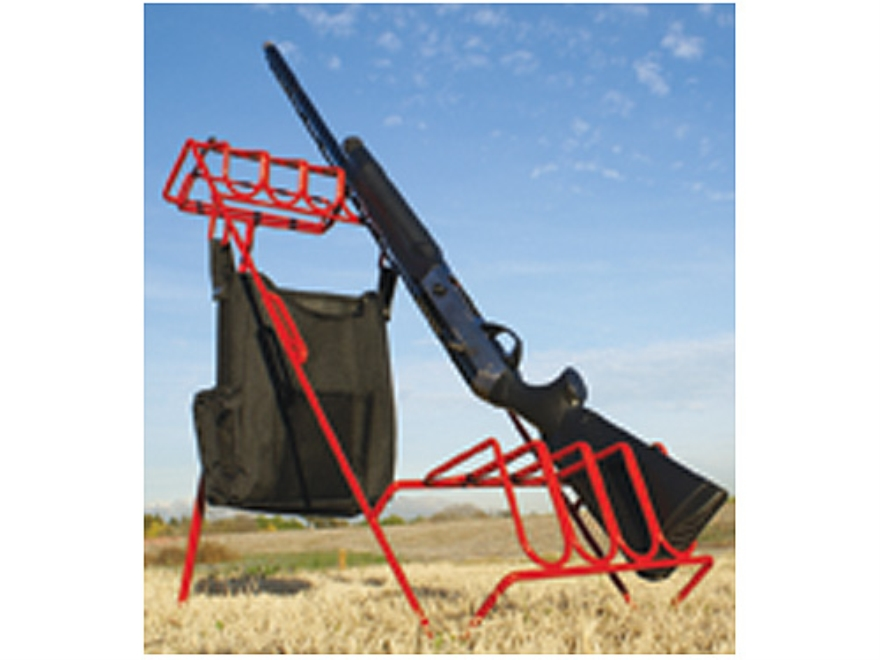 Versatile Gun Rack Campsite Kit 4 Gun Rack Vinyl Coated Steel Red