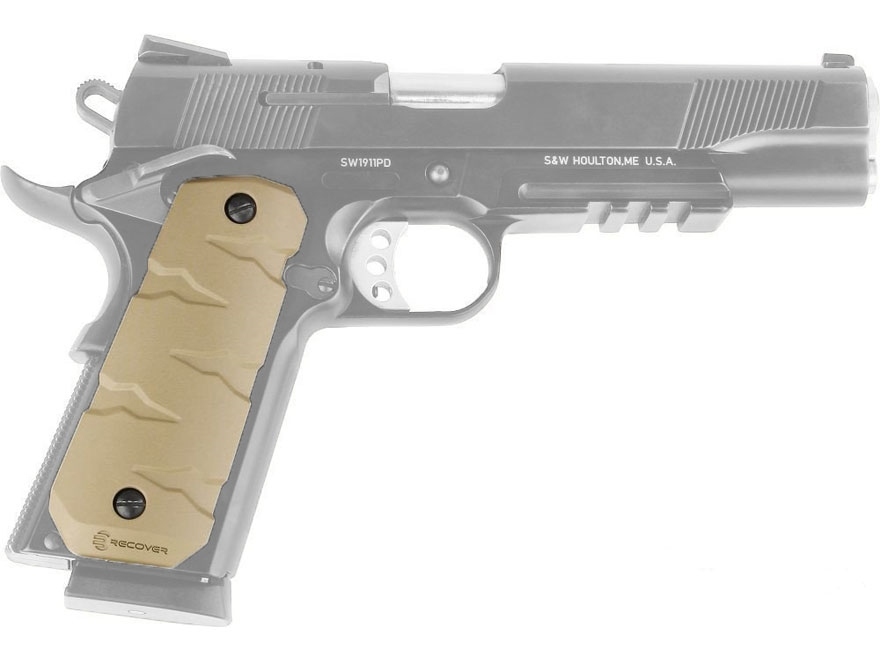 Recover Tactical RG11 T-Rex Quick Change Rubber Grips 1911 Government, Commander Rubber