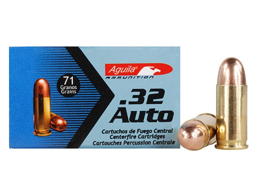 Aguila Ammunition 32 ACP 71 Grain Full Metal Jacket Box of 50