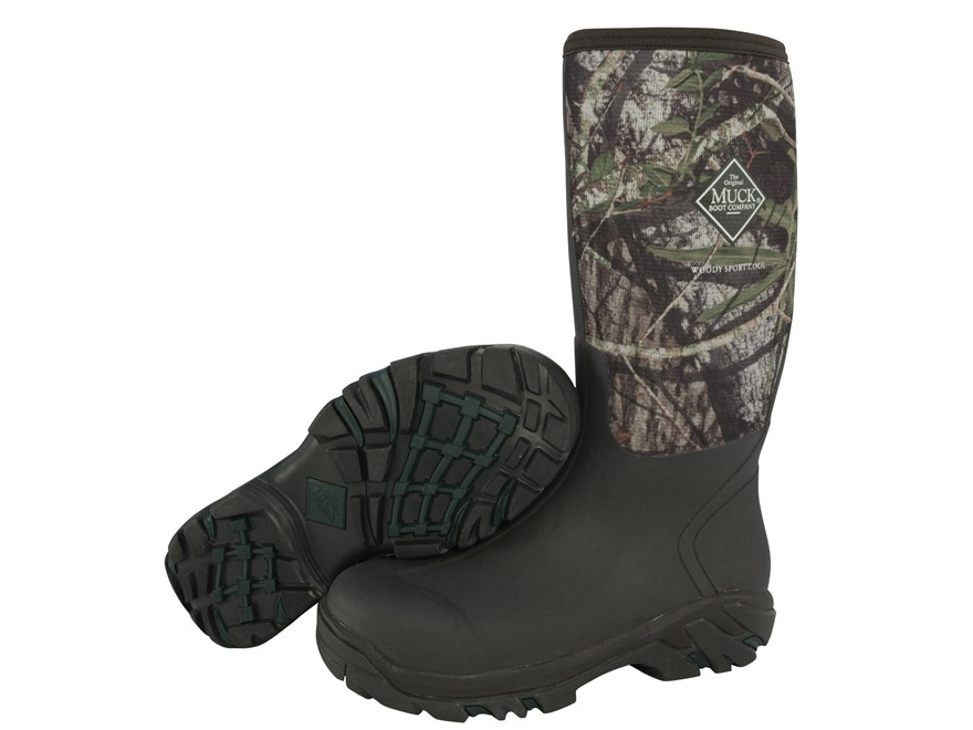 "Muck Woody Sport Cool 17"" Waterproof Uninsulated Rubber and Nylon Hunting Boots Mossy O..."