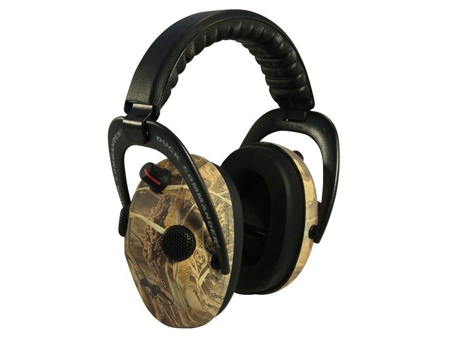 Walker's Duck Commander Alpha Power Muffs 360 QUAD Electronic Earmuffs (NRR 24dB) Real ...