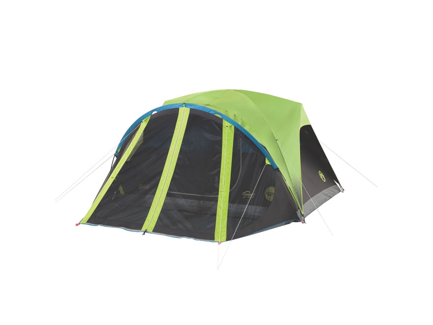 "Coleman Carlsbad 4 Man Dome Tent  108"" x 84"" x 59"" Polyester Black and Green"