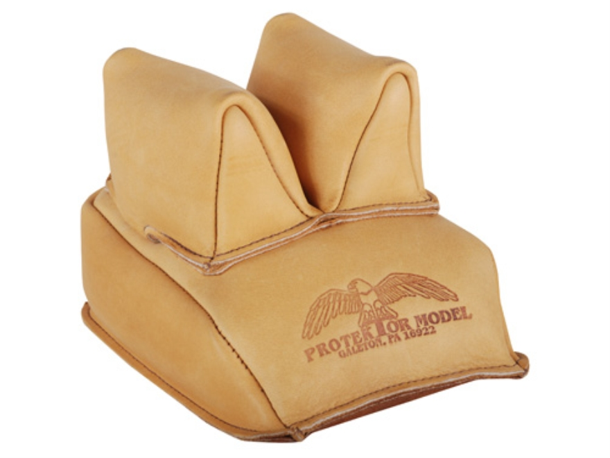 Protektor Rabbit Ear Rear Shooting Rest Bag Leather Tan Filled