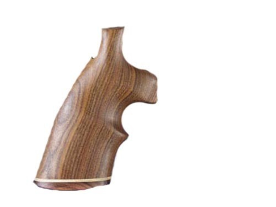 Hogue Fancy Hardwood Grips with Accent Stripe and Top Finger Groove Colt Diamondback
